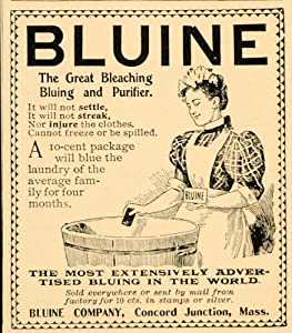 Amazon.com - 1901 Vintage Ad Bluine Laundry Bluing Washtub Clothes