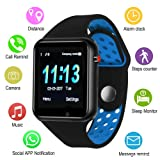 Smart Watches, IOQSOF Touchscreen Bluetooth Smart Watch with Camera, Android Smartwatch, Waterproof Smart Watches Compatible Samsung iOS iPhone X 8 7 6 6S Plus 5 Men Women (Color: black)