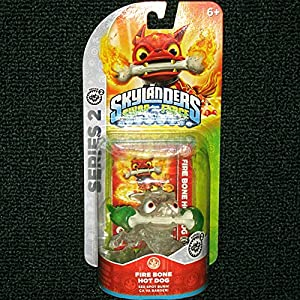 CRYSTAL CLEAR Fire Bone Hot Dog GREEN FLAMES VARIANT Skylanders SWAP Force Frito-Lay Promo Exclusive