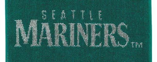 【MAJOR LEAGUE BASEBALL/メジャーリーグベースボール】マリナーズ・グリーン(ジャガード+刺繍) 200002【ミニタオル】