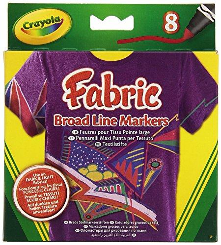 Crayola 58 8176 8 pennarelli per tessuti combinabili for Aerografo crayola amazon