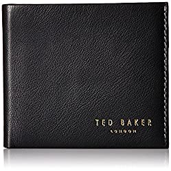 Ted Baker Men's Wallet and Card Gift Set, Black, One Size