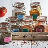 Kilner 6 Piece Spice Jar Gift Set | Spice Storage Set, Kilner Spice Rack