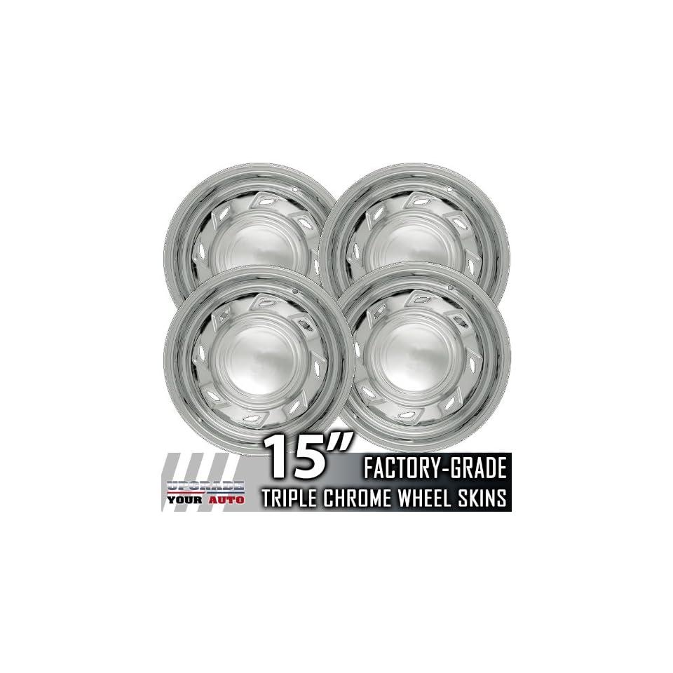 93 01 FORD EXPLORER 15 Chrome Wheel Skin Covers Automotive