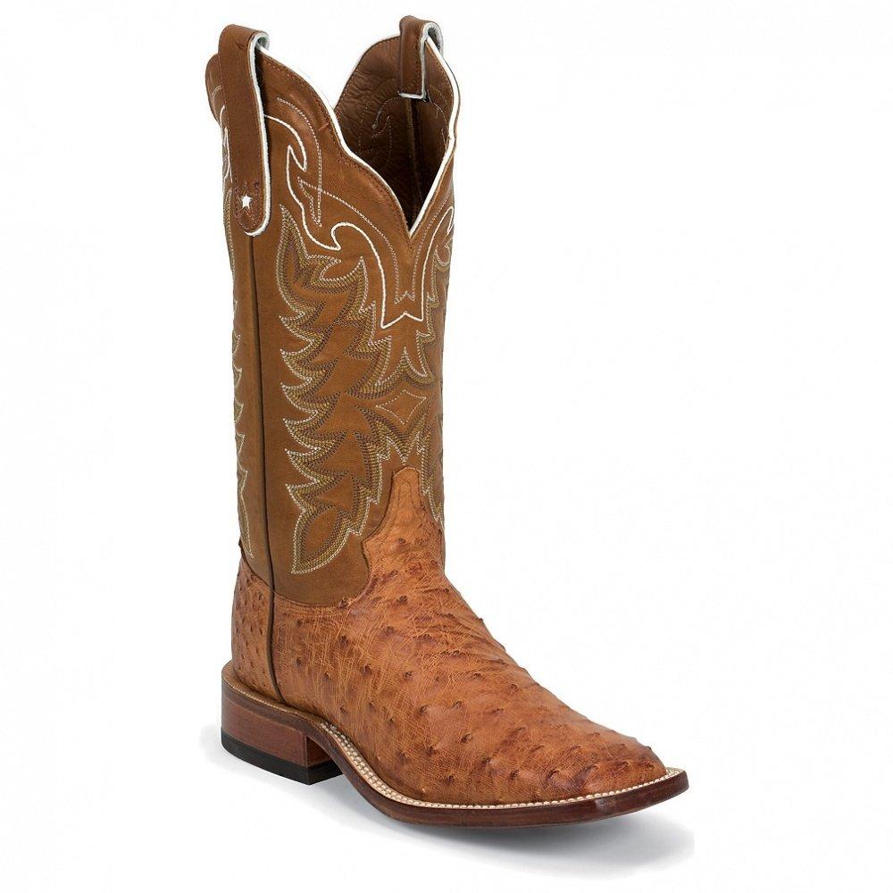 Tony Lama E9321 Men's Cognac Vintage Ostrich Boot 0