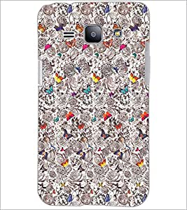 PrintDhaba Butterflies D-2040 Back Case Cover for SAMSUNG GALAXY J1 (Multi-Coloured)