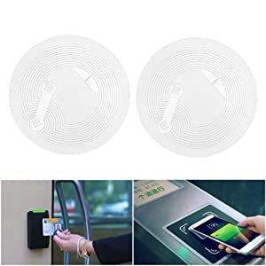 NFC NTag213 tag RFID PVC Stickers 13.56mhz for Samsung TagMo LG HTC Android Nokia Windows Sony All NFC-Enabled Smartphones and Devices (28PCS) (Color: 28PCS, Tamaño: 28PCS)