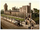 Victorian Photochrom-Reproduction Acrylic Fridge Magnet-Cardiff Castle (2)