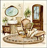 The Tile Mural Store - Antique Bath II by Jerianne Van Dijk - Kitchen Backsplash / Bathroom wall Tile Mural