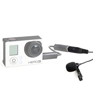 Movo GM100 Lavalier Lapel Clip-on Omnidirectional Condenser Microphone for GoPro HERO3, HERO3+ and HERO4 Black, White and Silver Editions (Tamaño: Standard)