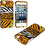myLife (TM) Wild Animals Print Series (2 Piece Snap On) Hardshell Plates Case for the iPhone 5/5S (5G) 5th Generation... by myLife Brand Products