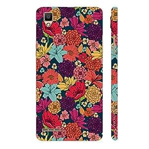 Enthopia Designer Hardshell Case Flowers 13 Back Cover for OPPO F1