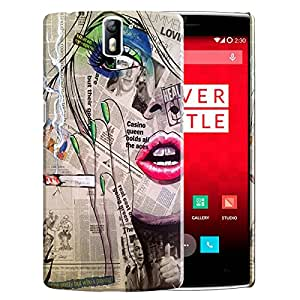 Theskinmantra Newspaper Women Back Cover for OnePlus one