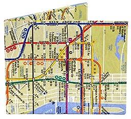 Dynomighty Men's Subway Map Mighty Wallet - Super Thin Lightweight Tyvek Billfold