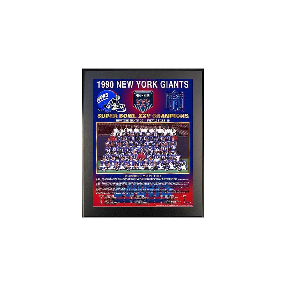44682c31a1d Healy New York Giants Super Bowl Xxv Champions Team Picture Plaque Black  11X13