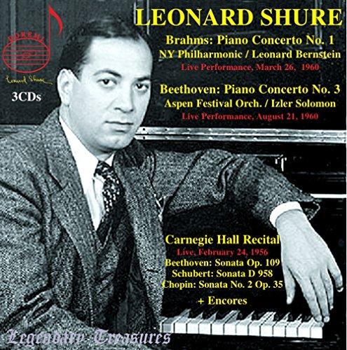 レジェンダリー・トレジャーズ・シリーズ ~ レナード・シュア (Legendary Treasures Series : Leonard Shure / Brahms | Beethoven | Schubert | Chopin) (3CD) [輸入盤]