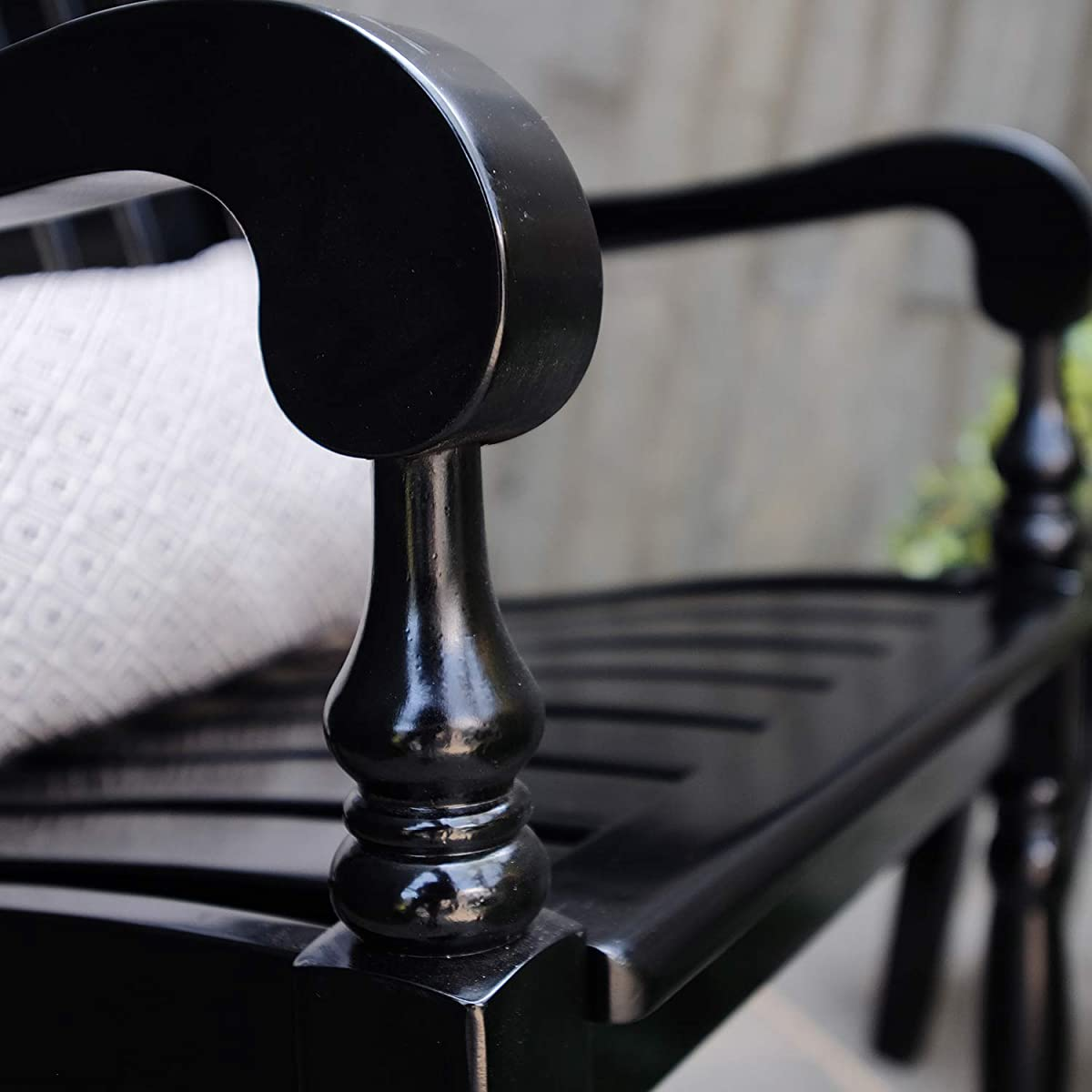 Cambridge-Casual AMZ-130826BK Thames Rocking Chair, Black