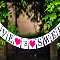 Love Is Sweet Vintage Love Wedding Bridal Party Supply Western Decoration Handmade Bunting Garland Banner Photo Props