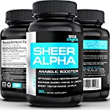 SHEER ALPHA: The Best Testosterone Booster For Men ● FINALLY Get The Body You Want With The #1 Top-Rated Muscle Builder Supplement on Amazon - 100% Natural Science-Based Formula Delivers REAL Results