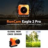 RunCam Eagle 2 PRO 800TVL CMOS 2.1mm/2.5mm Lens 16:9/ 4:3 NTSC/PAL Switchable Super WDR MIC OSD FPV Camera Low Latency for Drone Quadcopter Multicopter …