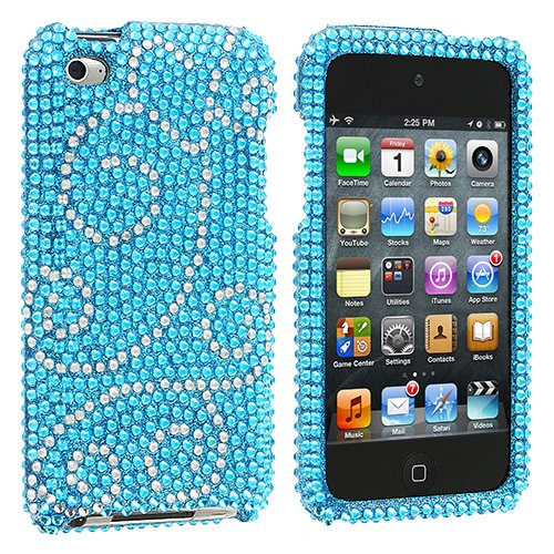 Bling Flourish Diamante For Apple Ipod Touch 4g 4th Generation Hard Case Cell Phone Protector Phone Accessory