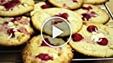 White Chocolate and Raspberry Cookies Recipe