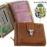BARON of MALTZAHN Portemonnaie Geldbörse BRANSON aus braunem Grassland-Leder