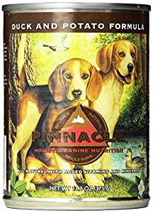 Pinnacle Holistic Duck and Potato Formula Dog Food, 13.2-Ounce Cans, Case of 12