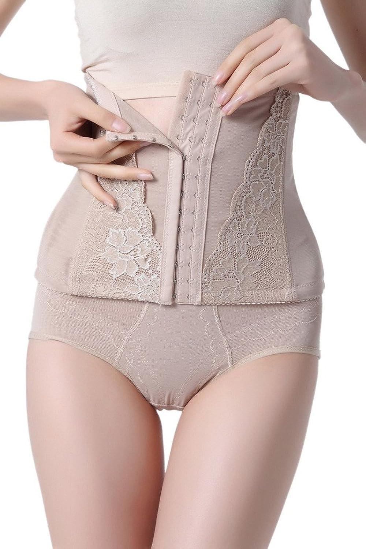 Bigood Damen Korsettgürtel Figurenformend Figur-Body Bodyshaper Miederpants Body günstig online kaufen