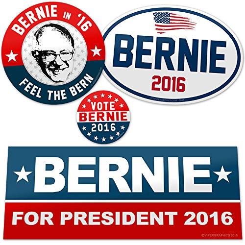 Vipergraphics, Bernie Sanders Sticker Pack - Feel the Bern (4 ...