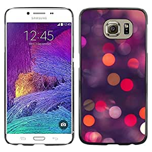 Omega Covers - Snap on Hard Back Case Cover Shell FOR Samsung Galaxy S6 - Glitter Dots Spots Pink Purple Orange