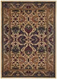 Couristan 2715/0706 Anatolia Royal Plume 8-Feet 2-Inch by 11-Feet 5-Inch Rug, Cream and Plum