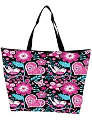 Snoogg Seamless Texture With Flowers Waterproof Bag Made Of High Strength Nylon - B01I1KGJ1O