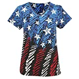 Women's Sketched American Flag Cotton T-Shirt