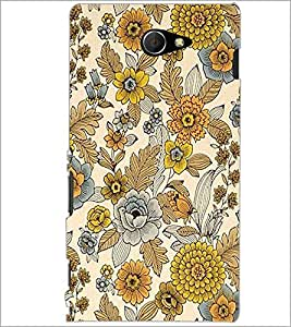 PrintDhaba Floral Design D-1443 Back Case Cover for SONY XPERIA M2 (Multi-Coloured)