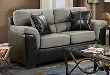 Chelsea Home Furniture Lancaster Loveseat, Laredo Graphite
