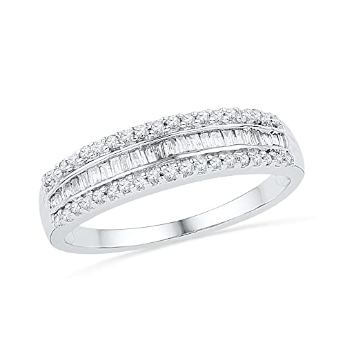 10KT-White-Gold-Baguette-and-Round-Diamond-Anniversary-Ring-1-4-cttw-