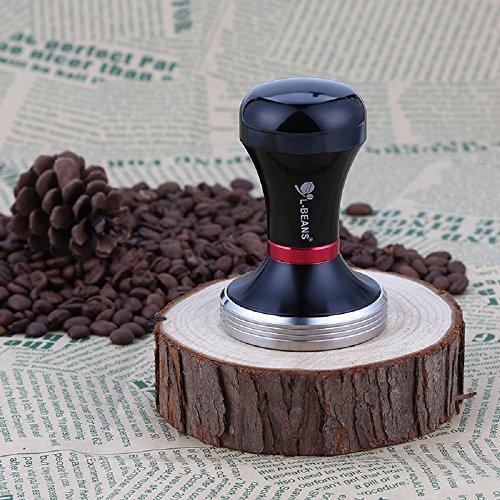 Himine Stainless Steel 399g Coffee Bean Tamper 58mm Espresso Tamper (Black)