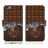 Evis Club 【iPhone 6s Plus (5.5inch) (iPhone6sp)】 手帳型 スリム 薄型 [ 板チョコ スゥィート 2415 ] カード収納