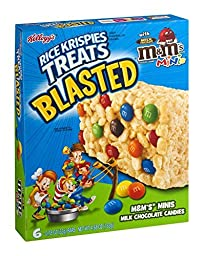 Kellogg\'s, Rice Krispies Treats Blasted with M&M Mini\'s, 6 Count (0.78oz Each), 4.68oz Box (Pack of 3)