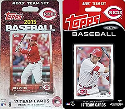 Cincinnati Reds 2 Team Gift Lot Including 2015 and 2014 Topps Factory Sealed Special Edition 17 Card Team Sets with Joey Votto Jay Bruce Plus