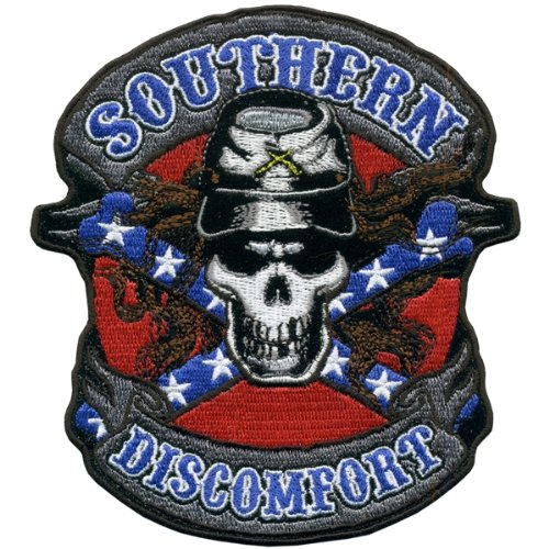 Hot Leathers Southern Discomfort Rebel Skull Patch (5