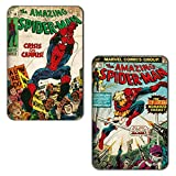 Marvel 'Spiderman Deadliest' Rectangular MDF Fridge Magnet (7.5 cm x 10 cm, Set of 2)