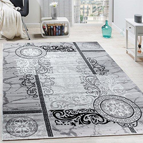 designer-teppich-modern-meliert-floral-mit-versace-muster-kreise-grau-schwarz-grosse160x220-cm