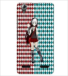 PrintDhaba Cute Girl D-3500 Back Case Cover for LENOVO A6000 PLUS (Multi-Coloured)