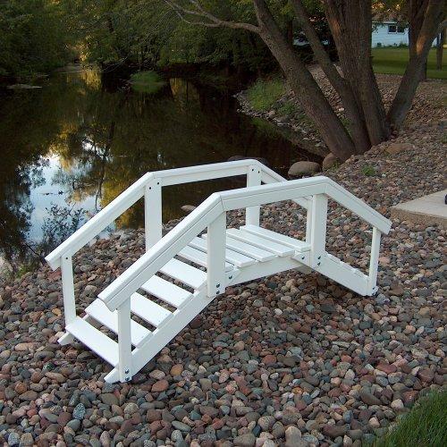 Prairie Leisure Decorative Garden Bridge with posts & rails - Sage