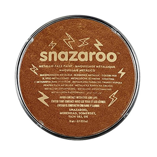 Snazaroo Metallic Face Paint, 18ml, Copper