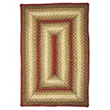 Homespice Rectangular Jute Braided Rugs, 5-Feet by 8-Feet, Aberdeen