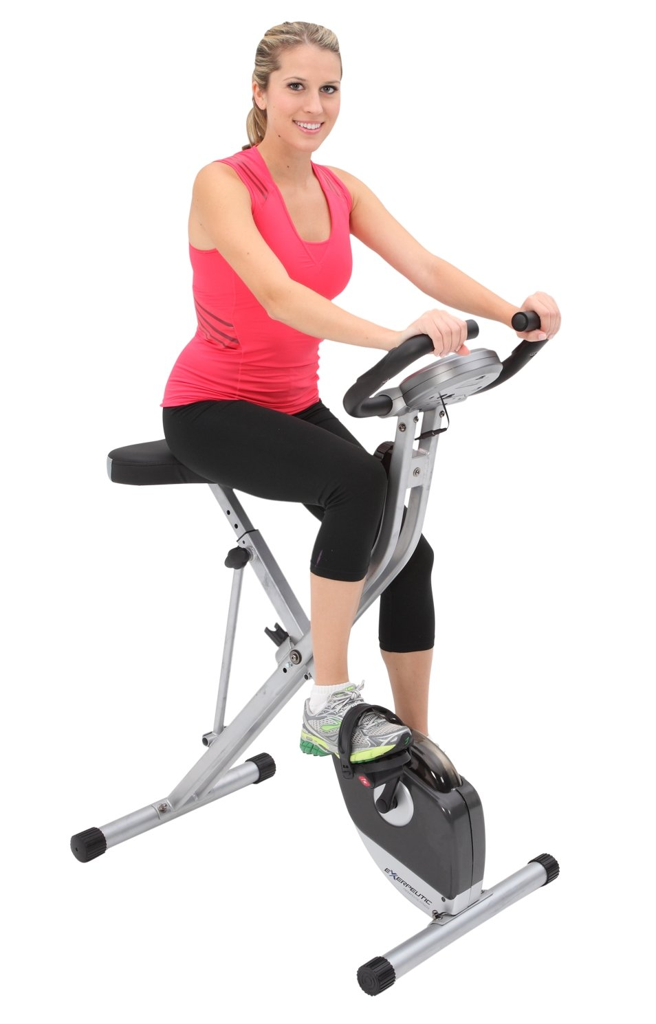Folding Magnetic Upright Bike with Pulse