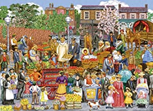 Gibsons Springtime Market Jigsaw Puzzle (500 Extra Large Pieces)